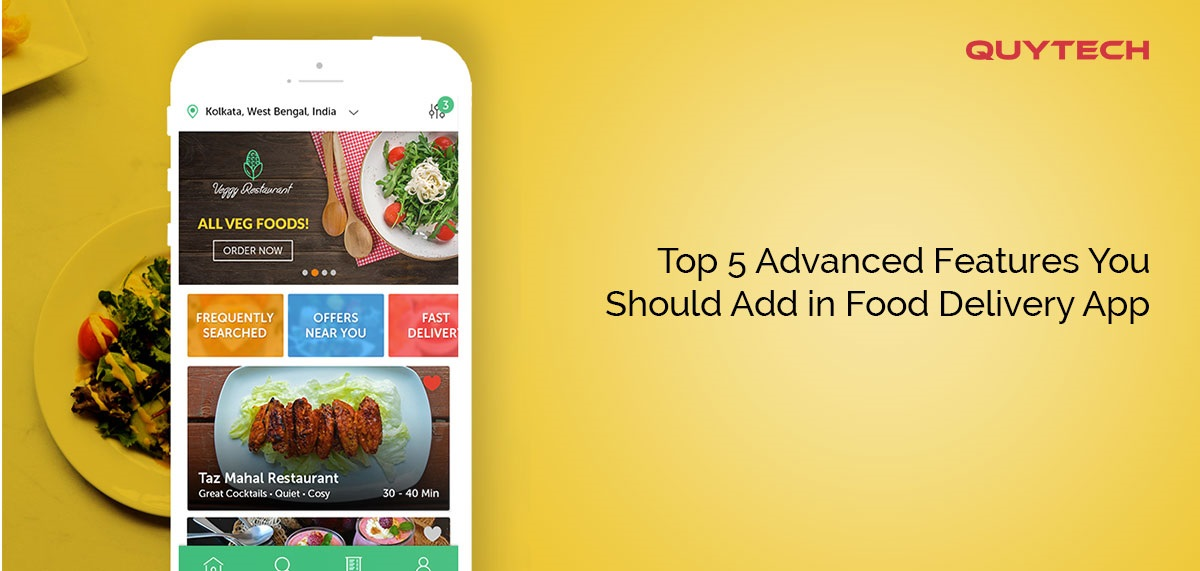 Advanced Features Food Delivery App